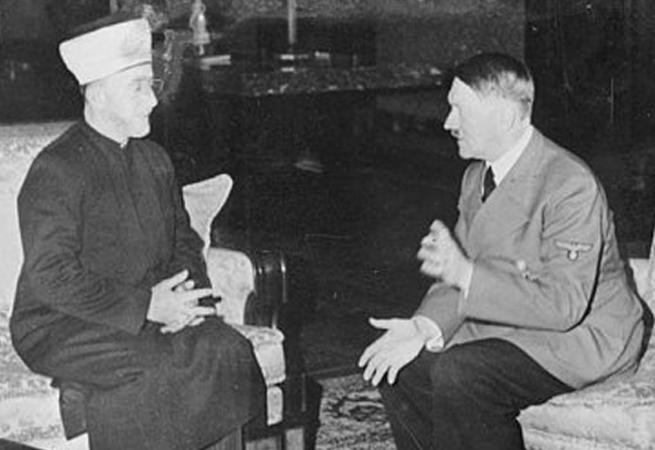 Amín al-Husajní na přátelské audienci u Hitlera