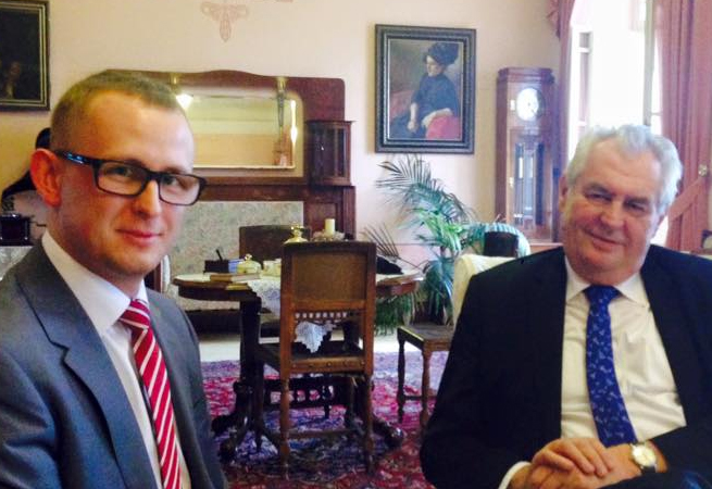 Miloš Zeman a Radim Panenka (zprava)