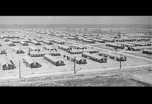 Internační tábor Jerome v Arkansasu. Podobnost s táborem v Birkenau je čistě náhodná...