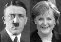 Hitler a Merkel - Dvě nelidské germánské zrůdy